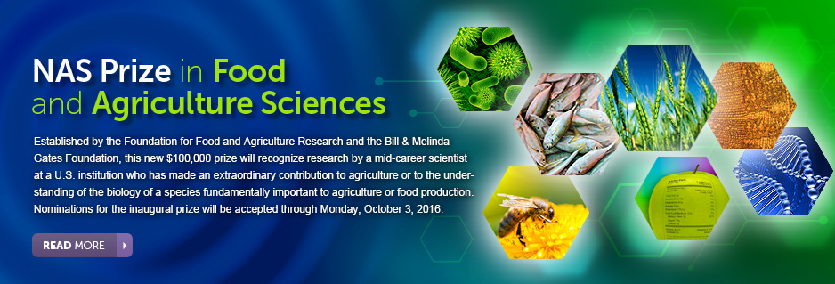 NAS Food and Agriculture Prize