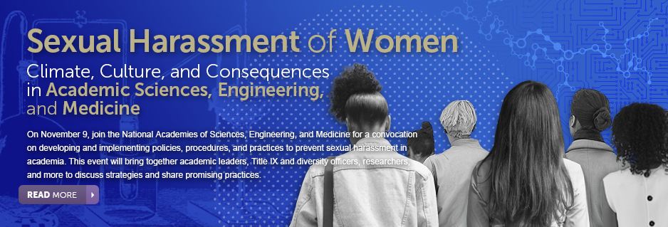 Sexual Harassment of Women explores the influence of sexual harassment in academia on the career advancement of women in the scientific, technical, and medical workforce.