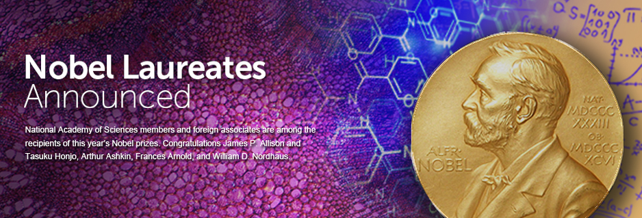 National Academy of Sciences members are among the receipients of the 2016 Nobel Prizes