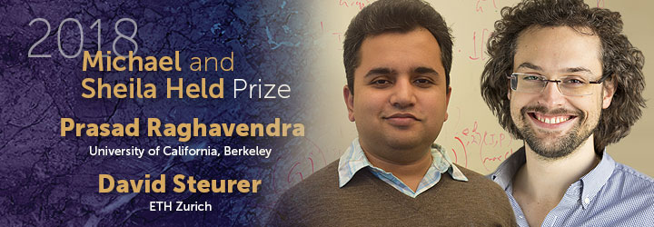 Raghavendra and Steurer 2018 Held Prize