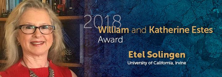 Solingen, Etel 2018 William and Katherine Estes Award